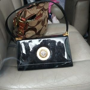Giovanni Versace black handbag